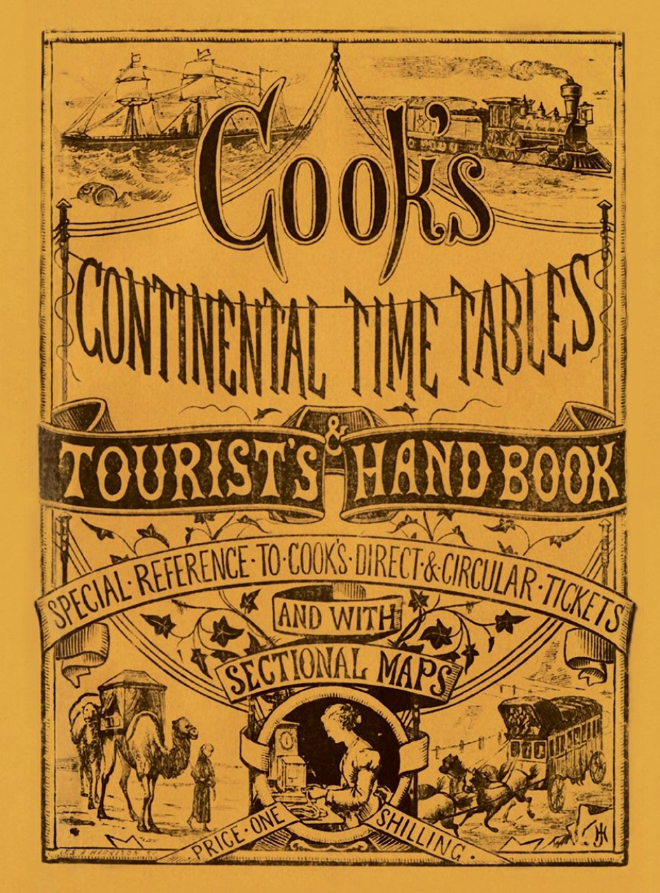 Cooks Continental Time Tables MARCH 1873 edition REPRINT